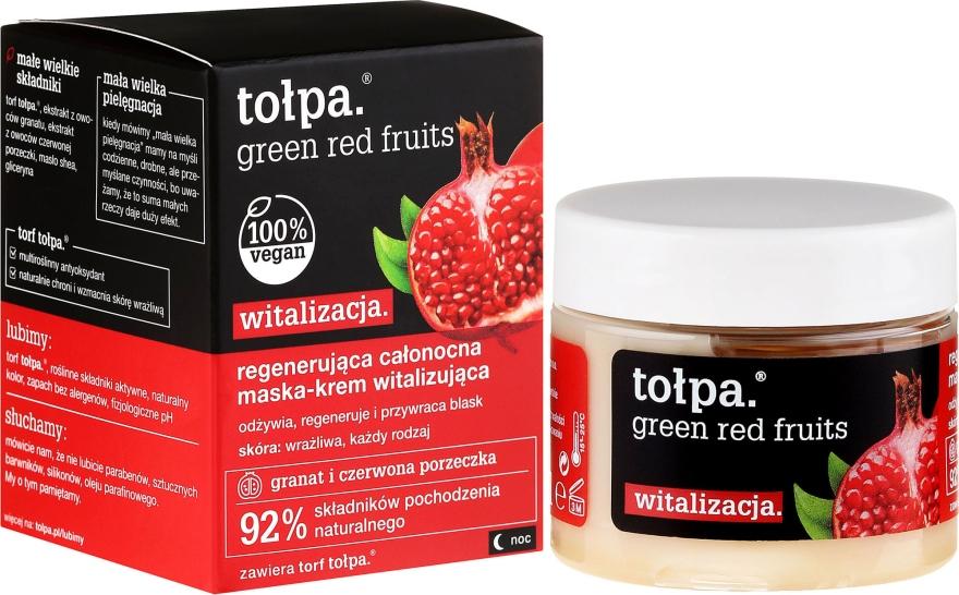Regenerująca całonocna maska-krem witalizująca - Tołpa Green Czerwone owoce