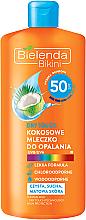 Kup Kokosowe mleczko do opalania SPF 50 - Bielenda Bikini