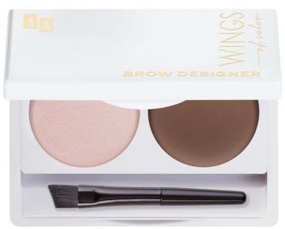 Paletka do stylizacji brwi - AA Wings Of Color Brow Designer — фото N1
