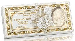 Kup Zestaw naturalnych mydeł w kostce w kształcie damy Bukiet kwiatów - Saponificio Artigianale Fiorentino Floral Bouquet Soap (3 x soap 125 g)