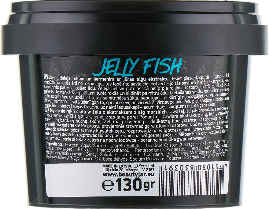 Żelowe mydło do rąk i ciała z ekstraktem z alg - Beauty Jar Jelly Fish Jelly Soap For Hands And Body — фото N3
