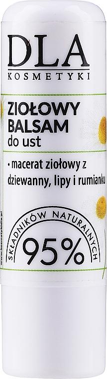 Ziołowy balsam do ust z masłem shea - DLA