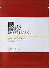 Kup Odnawiająca maska na tkaninie do twarzy Propolis - Missha Bee Pollen Renew Sheet Mask