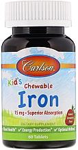 Kup Witaminowe żelki dla dzieci z żelazem o smaku truskawkowym - Carlson Labs Kid's Chewable Iron