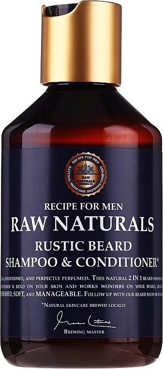 Szampon i odżywka do brody - Recipe For Men RAW Naturals Rustic Beard Shampoo & Conditioner — фото N1