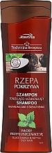 Kup Tonizująco-wzmacniający szampon do włosów przetłuszczających się Rzepa i pokrzywa - Joanna Tradycyjna receptura