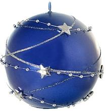 Kup Świeca dekoracyjna niebieska kula, 10 cm - Artman Christmas Garland