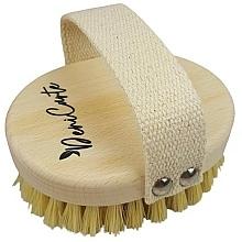 Kup Antycellulitowa szczoteczka do masażu z włosiem z kaktusa i bawełnianą rączką - Deni Carte