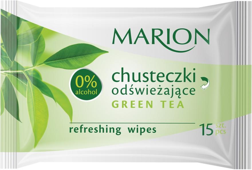 Chusteczki odświeżające Green Tea, 15 szt. - Marion
