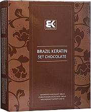Kup Zestaw do włosów - Brazil Keratin Intensive Repair Chocolate (shm 300 ml + cond 300 ml + serum 100 ml)