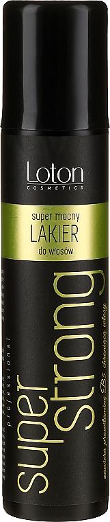 Supermocny lakier do włosów - Loton Hair-Spray Super Strong — фото N1