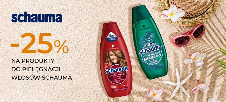 Zniżka 25% na wybrane produkty do pielęgnacji włosów Schauma. Сeny uwzględniają zniżkę.