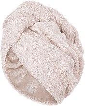 Kup Beżowy ręcznik-turban do włosów (68 x 26 cm) - Makeup