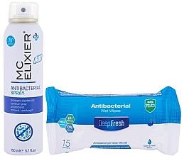 Kup Zestaw - Mc Elixier Antibacterial Set (h/spray/150ml + wipes/15)