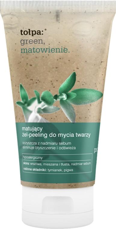 Matujący żel-peeling do mycia twarzy - Tołpa Green Matowienie