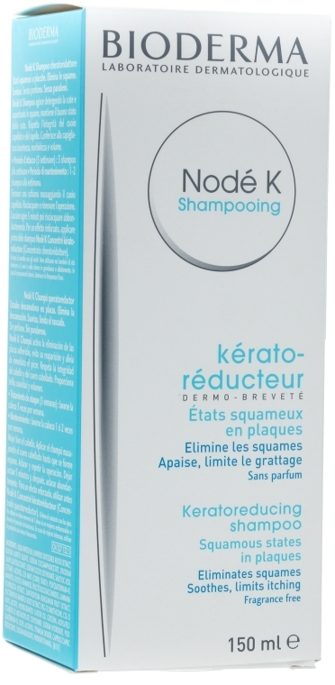 Szampon przeciwłupieżowy o działaniu złuszczającym, przeciwzapalnym i przeciwświądowym - Bioderma Nodé K Keratoreducing Shampoo