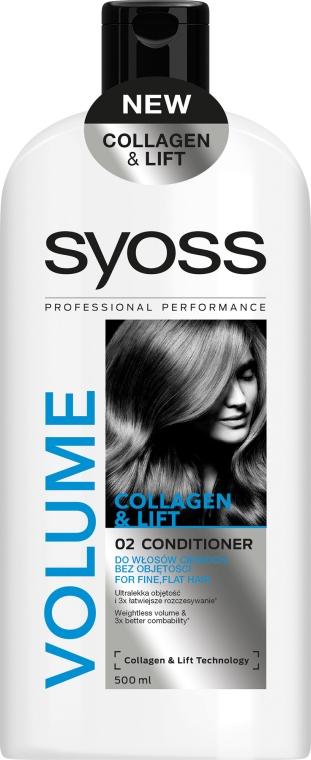 Odżywka do włosów cienkich i bez objętości - Syoss Volume Collagen & Lift 02 Conditioner