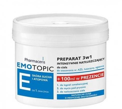 Intensywnie natłuszczający preparat 3 w 1 do ciała - Pharmaceris E Emotopic Lipid-Replenishing Formula 3in1