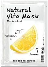 Kup Rozświetlająca maseczka w płachcie do twarzy Cytryna z witaminą C - Too Cool For School Natural Vita Mask Brightening