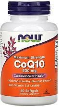 Kup Koenzym Q10, 600 mg, 60 kapsułek - Now Foods CoQ10 With Vitamin E & Lecithin