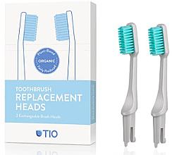 Kup Wymienne końcówki do szczoteczki do zębów, miękkie włosie, szare - TIO Toothbrush Soft