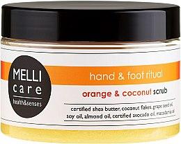 Kup Oczyszczająco-relaksujący peeling solno-cukrowy do dłoni i stóp Pomarańcza i kokos - Melli Care Hand & Foot Ritual Orange & Coconut Scrub