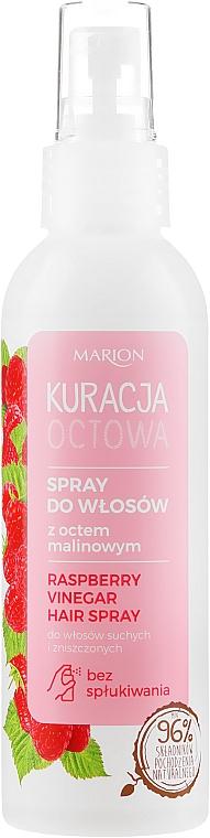 Spray z octem malinowym do włosów suchych i zniszczonych - Marion Kuracja octowa