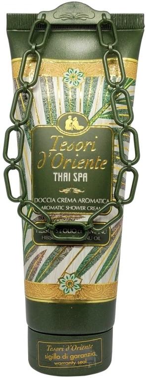 Aromatyczny krem pod prysznic Hibiskus i olej tamanu - Tesori d`Oriente Thai Spa — фото N1