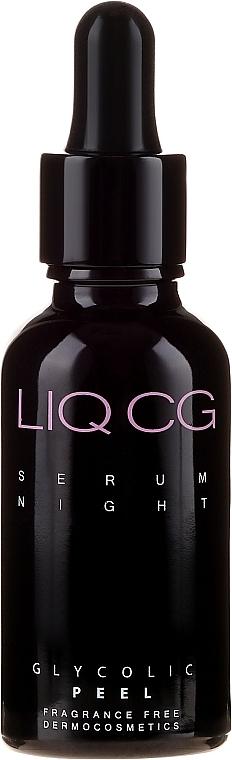 Serum wygładzające na noc Peeling glikolowy - Liqpharm — фото N2