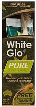 Kup Zestaw do higieny jamy ustnej z bambusową szczoteczką - White Glo Pure & Natural (t/paste 85 ml + t/brush)