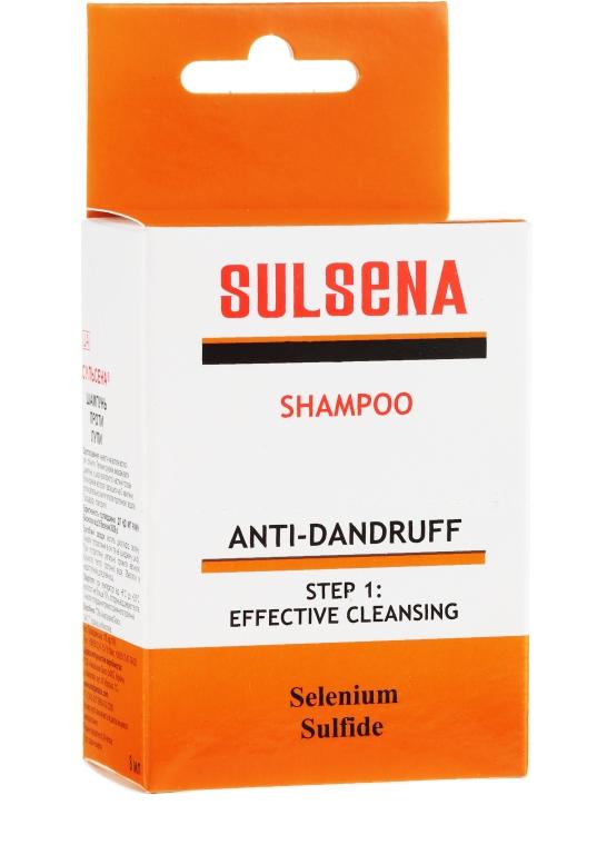 Zestaw szamponów przeciwłupieżowych w saszetkach - Sulsena (5 x shm 8 ml) — фото N1