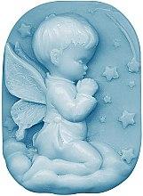 Kup Ręcznie robione mydło glicerynowe w kostce Aniołek - Bulgarian Rose Glycerin Fragrant Soap Blue Angel