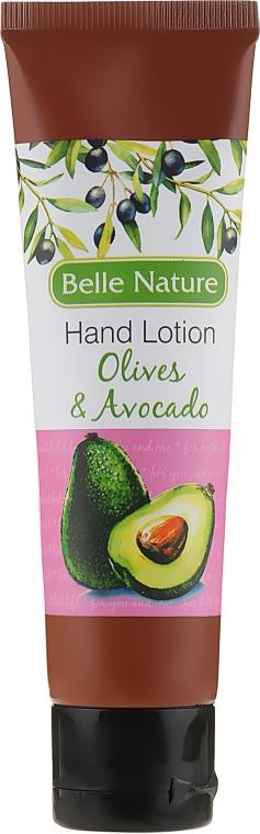 Balsam-krem do rąk o zapachu oliwek i awokado - Belle Nature Hand Lotion Olives&Avocado