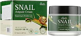 Kup Przeciwzmarszczkowy krem do twarzy ze śluzem ślimaka - Ekel Snail Ampule Cream