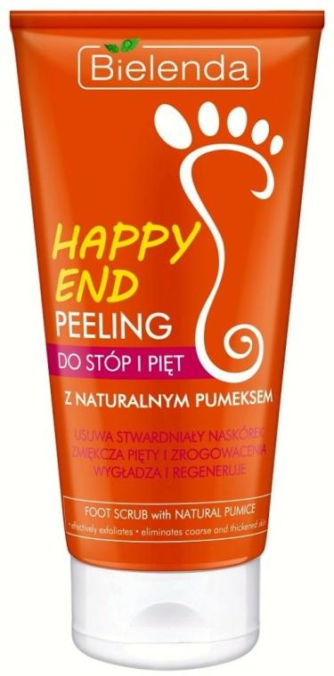 Peeling do stóp i pięt z naturalnym pumeksem - Bielenda Happy End