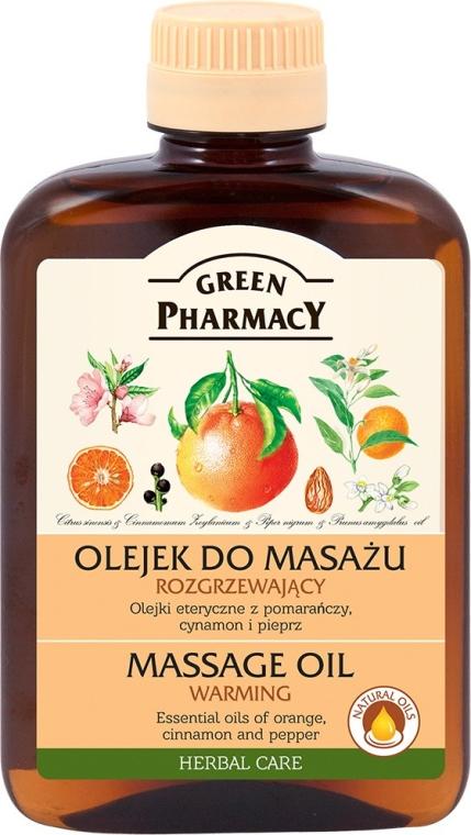 Rozgrzewający olejek do masażu - Green Pharmacy Warming Massage Oil
