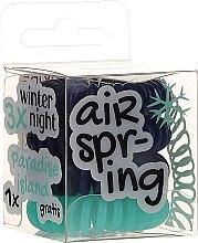 Kup Gumki do włosów, granatowe + turkusowe, 4 szt. - Hair Springs