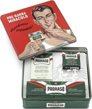 Kup Zestaw do golenia dla mężczyzn - Proraso Classic Shaving Metal Green Gino (bsh/cr 100 ml + shv/cr 150 ml + ash/cr 100 ml)