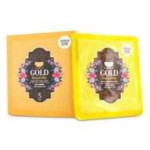 Kup Hydrożelowa maska do twarzy ze złotem i woskiem pszczelim - Petitfee & Koelf Gold & Royal Jelly Hydro Gel Mask