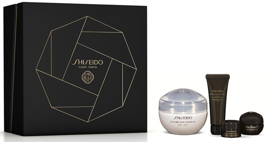 Zestaw - Shiseido Future Solution LX Total Protective Cream Kit (cr/50ml+foam/15ml+night/cr/6ml+eye/lip/cr/2.5ml) — фото N1