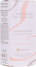 Podkład do twarzy - Embryolisse Laboratories Secret De Maquilleurs Liquid Foundation Spf 20 — фото N2
