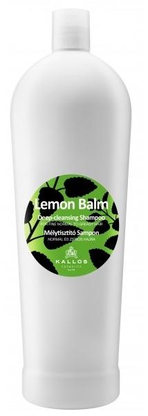 Głęboko oczyszczający szampon do włosów normalnych i przetłuszczających się z melisą lekarską - Kallos Cosmetics Lemon Balm Shampoo