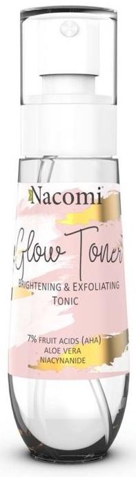 Rozjaśniająco-złuszczający tonik do twarzy - Nacomi Glow Brightening & Exfoliating Tonic