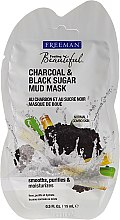 Kup Błotna maska z węglem aktywnym i czarnym cukrem - Freeman Feeling Beautiful Charcoal & Black Sugar Mud Mask (miniprodukt)