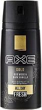 Kup Dezodorant w sprayu dla mężczyzn - Axe Gold Oud Wood & Dark Vanilla Deodorant & Bodyspray