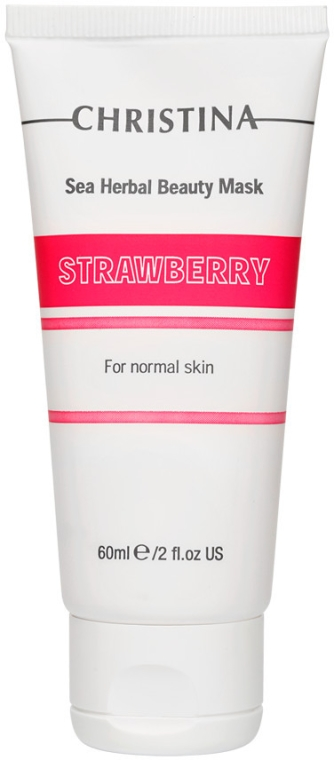 Truskawkowa maska do skóry normalnej - Christina Sea Herbal Beauty Mask Strawberry
