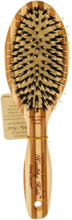 Szczotka do włosów - Olivia Garden Healthy Hair Oval Combo Eco-Friendly Bamboo Brush