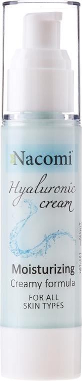 Nawilżający krem do twarzy Kwas hialuronowy - Nacomi Hyaluronic Cream