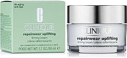Kup Intensywnie regenerujący krem zwiększający jędrność skóry mieszanej w stronę suchej lub tłustej - Clinique Repairwear Uplifting Firming Cream SPF15 Skin Type 2,3