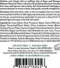 Spray do twarzy z aloesem, szałwią i kwiatem pomarańczy - Mario Badescu Facial Spray with Aloe Sage & Orange Blossom — фото N2